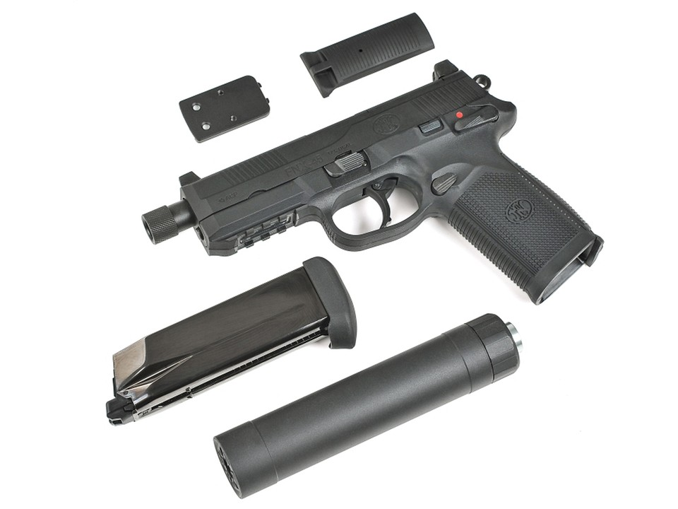 CyberGun FNX-45 Tactical ガスブローバックピストル/DXversionSP1 (BK) [ガスガン]