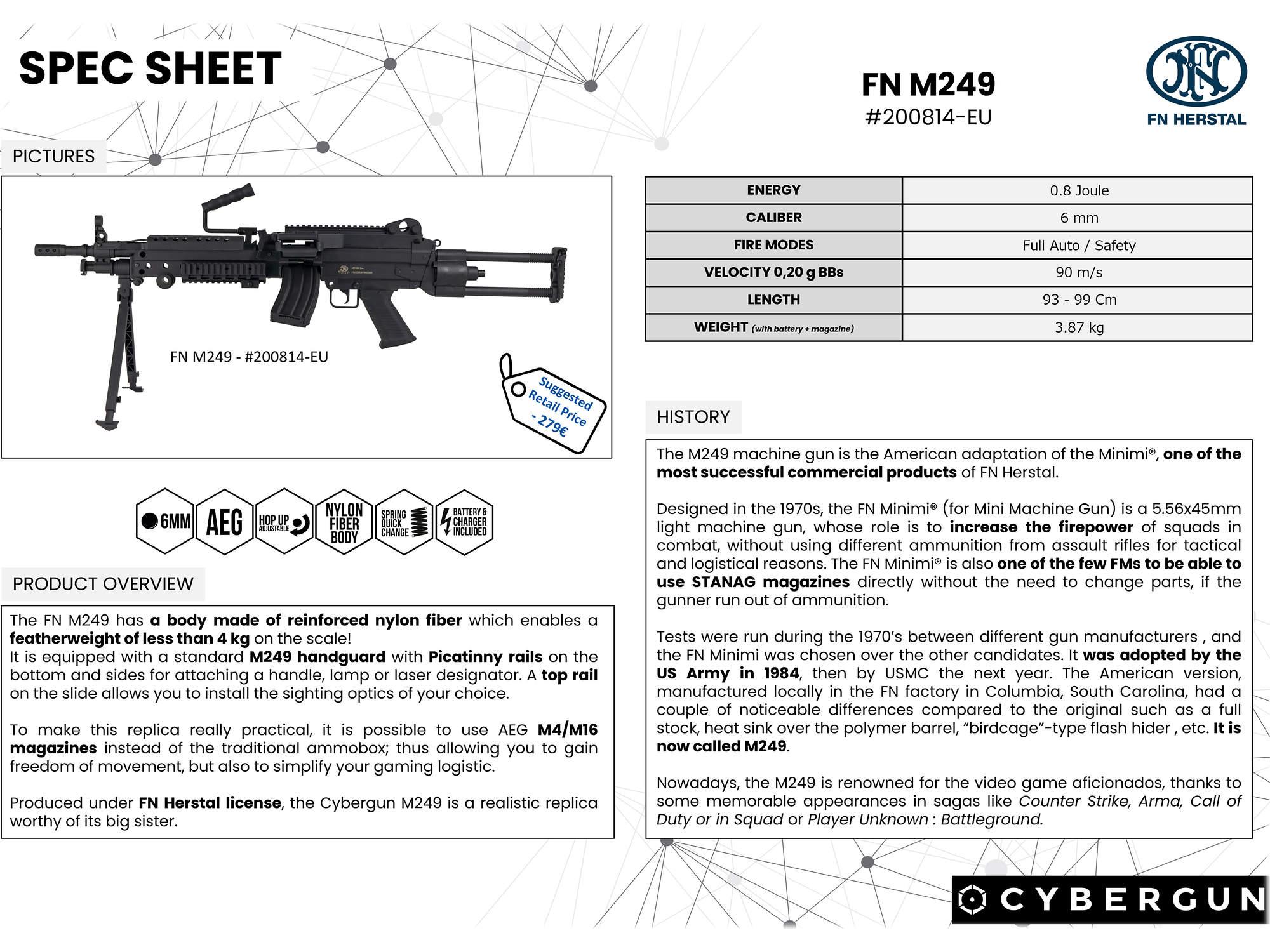 CyberGun FN M249 PARA - Nylon Fiber [電動ガン]